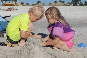 an actual Florida beach trip