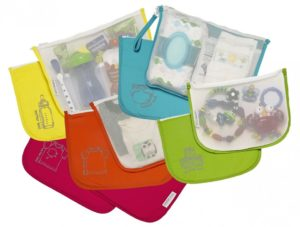 Assortment of Colored Organizational Pouches for Diaper Bag