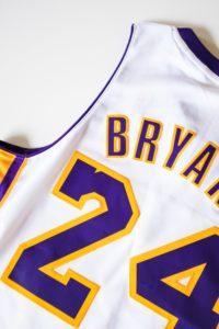 White, Purple and Gold Kobe Bryant Lakers Jersey