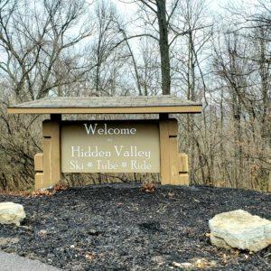 Welcome to Hidden Valley sign in Eureka