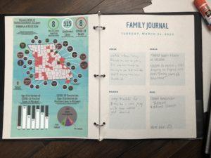 family quarantine journal binder
