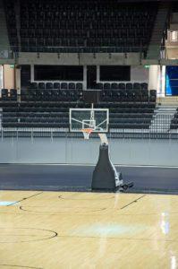 empty basketball arena