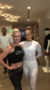 Amy Lescher at TruFusion with JLo