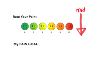 pain scale with emoji faces to rate your pain