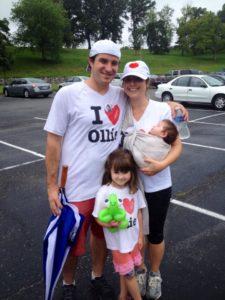Mark Hinkle with his family, honoring their son Ollie through the Ollie Hinkle Heart Foundation