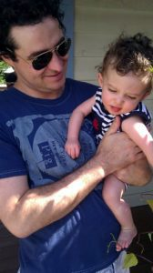 Mark Hinkle and his son, Ollie, for whom the Ollie Hinkle Heart Foundation was founded