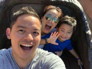 David Kim, Assistant Cellist for the SLSO, with his wife and son.