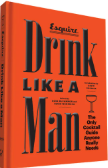 An orange book with the title, Drink Like a Man, an essential cocktail guide for Father's Day