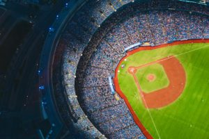 Aerial View of a baseball Stadium during Daytime