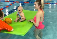 Baby Taking Swim Lessons