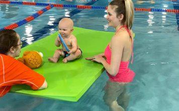 Baby Taking Swim Lessons