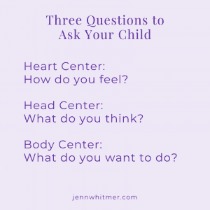 A list of three questions to ask kids to help explore their enneagram