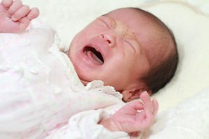a girl baby crying