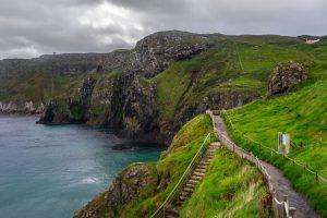 a hillside overlooking the water in Ireland