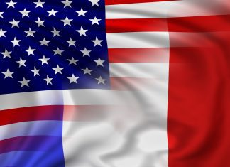 a French and American flag