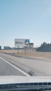 Every state sign on our journey to Missouri
