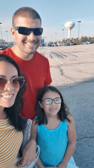 Our first family selfie in Wentzville, Missouri