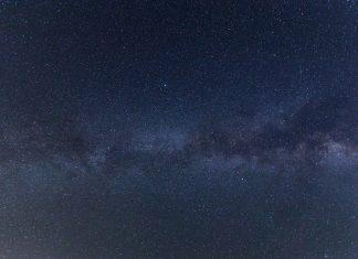 a dark, starry sky