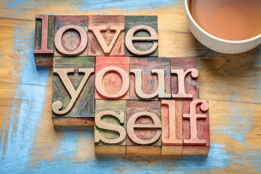 """wooden letters saying """"love yourself"""""""