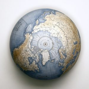 picture of globe from above