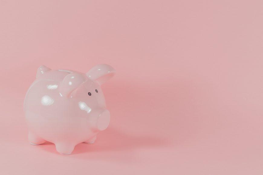 a pink piggy bank symbolizing financial literacy