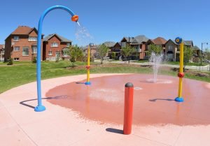fountains at a splash pad