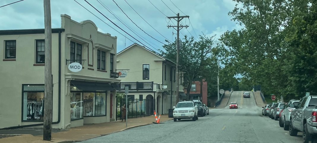 a photo of shops in Downtown Kirkwood, MO