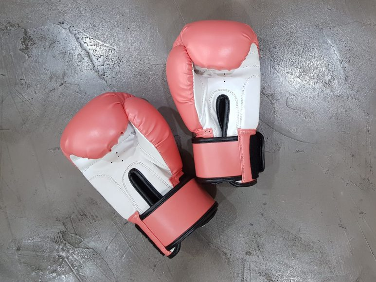 pink boxing gloves for fighting