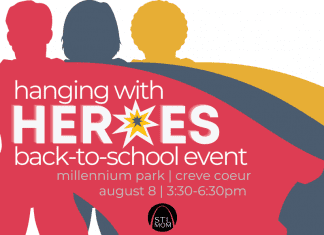 St. Louis Mom Hanging with Heroes back-to-school event announcement
