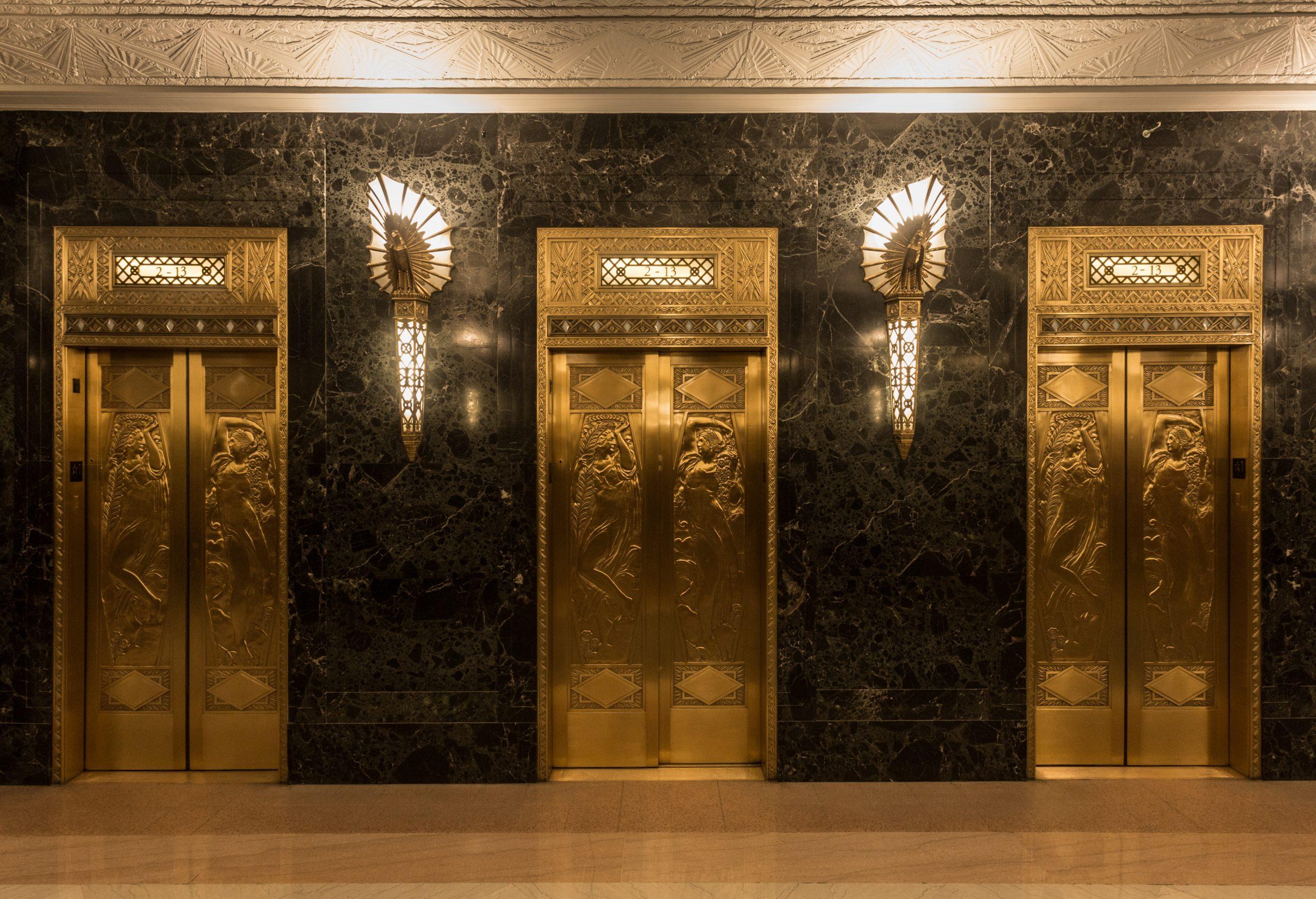 fancy hotel elevators